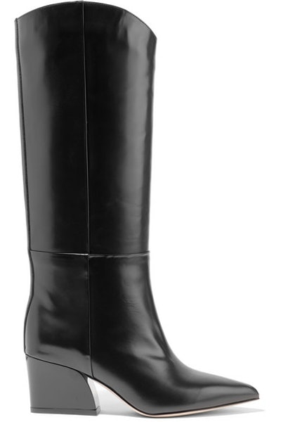 Glossed Knee High Boots