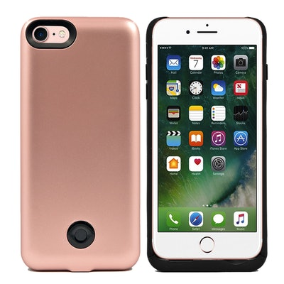 iPhone 7 External Battery Backup Case Charger Power Bank 3800mAh Rose Gold
