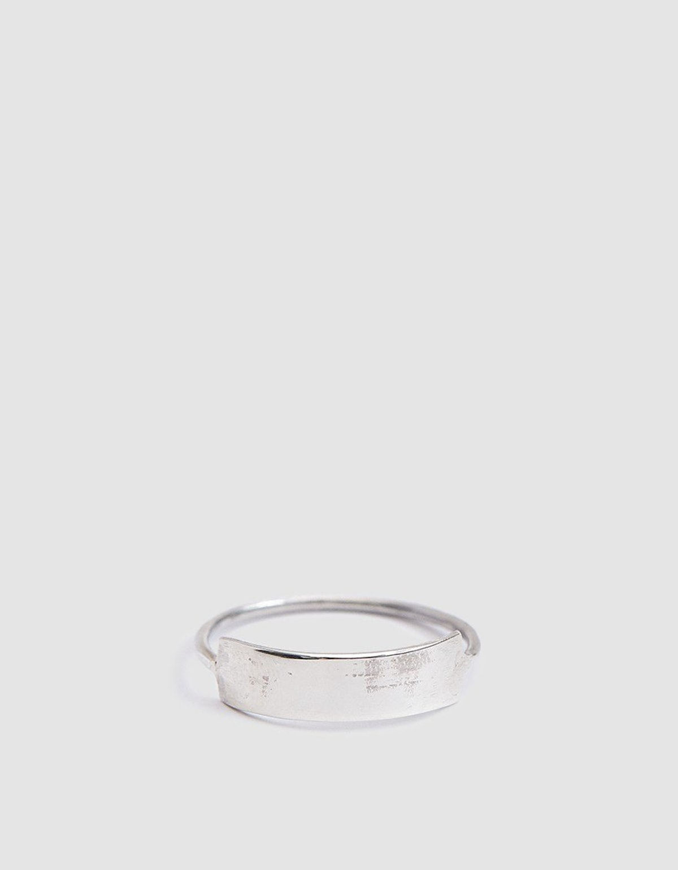 Loren Stewart Sterling Silver Mini ID Ring