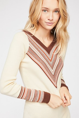 Free People So Good Stripe Pullover