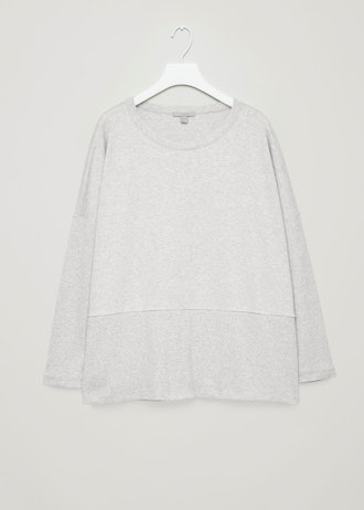COS Cocoon Ribbed-Jersey Top