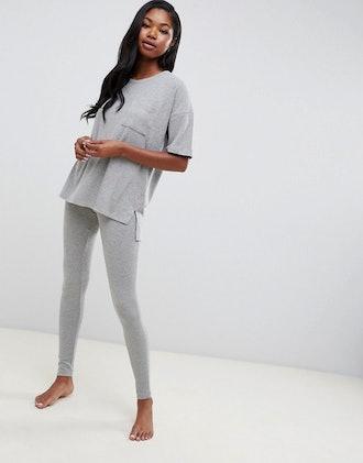Boux Avenue Rib Knit Tee and Legging Loungewear Set