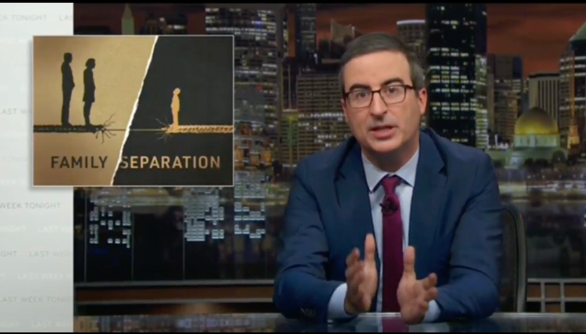 John Oliver Uses Trump's Family Separation Policy To Explain What The Migrant Caravan Could Face