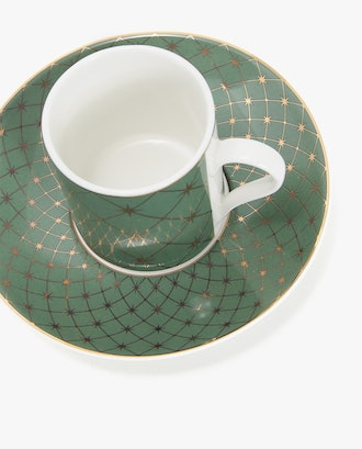 Coffee Cup and Saucer With Silk Screen