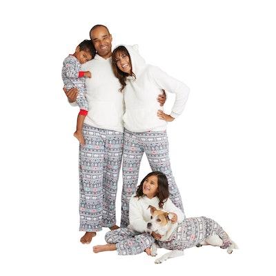 Holiday Fuzzy Bear Fair Isle Family Pajamas Collection