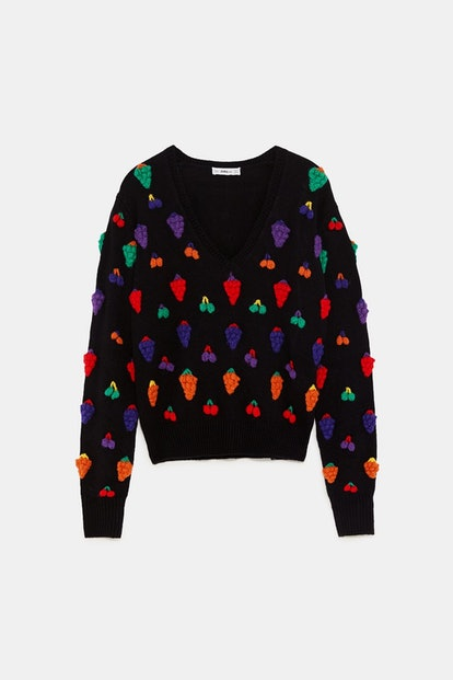 CROCHETED FRUITS SWEATER