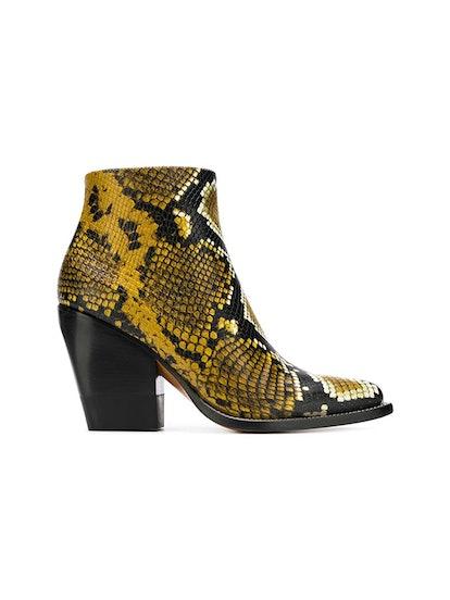 Printed Python Boots