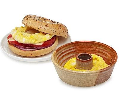 Egg on a Bagel Maker