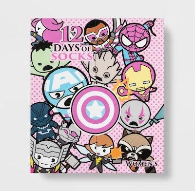Women's Marvel 12 Days of Socks