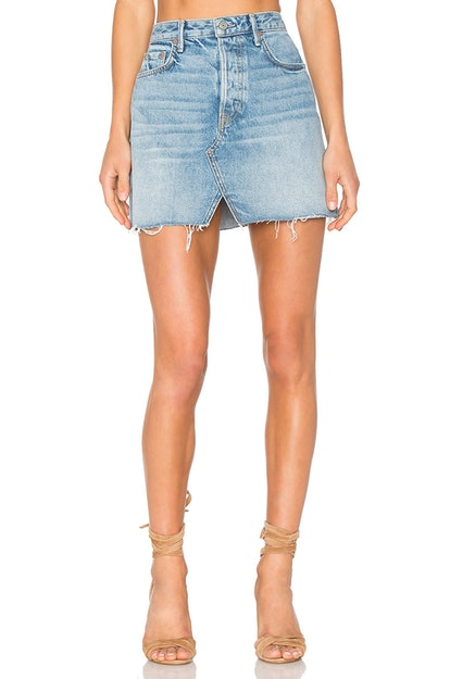 Grlfrnd x Revolve Milla Denim Mini Skirt