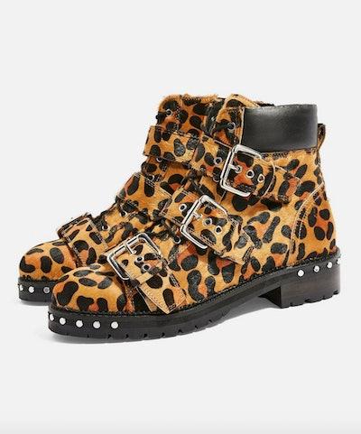 Animal Leopard Print Hiker Boots