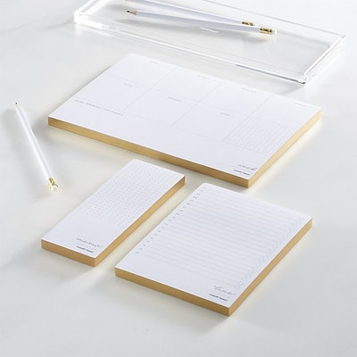 Russel + Hazel In Due Time Gold Notepad Set