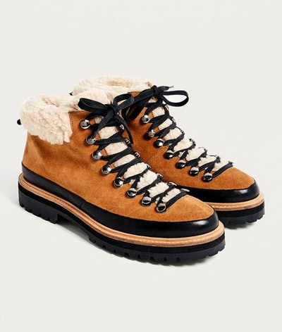 UO Boxer Shearling Hiker Boots