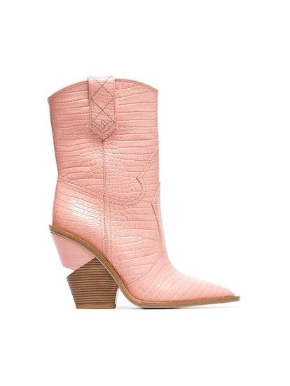 Cutwalk 100 Crocodile-Embossed Ankle Boots