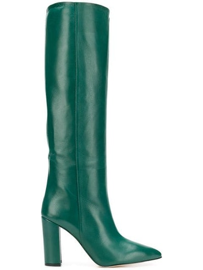 Pointed Knee-Length Boots