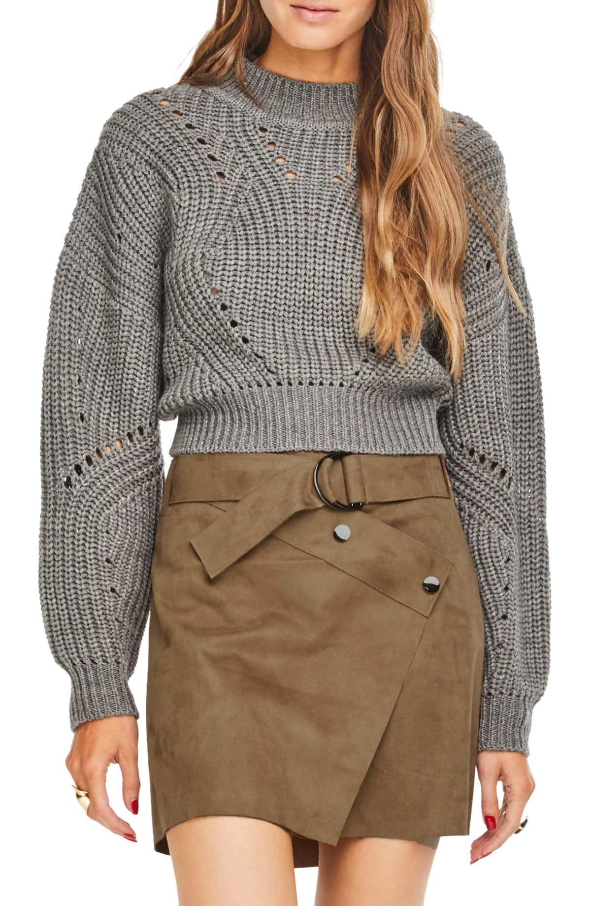 Carly Crop Sweater ASTR THE LABEL