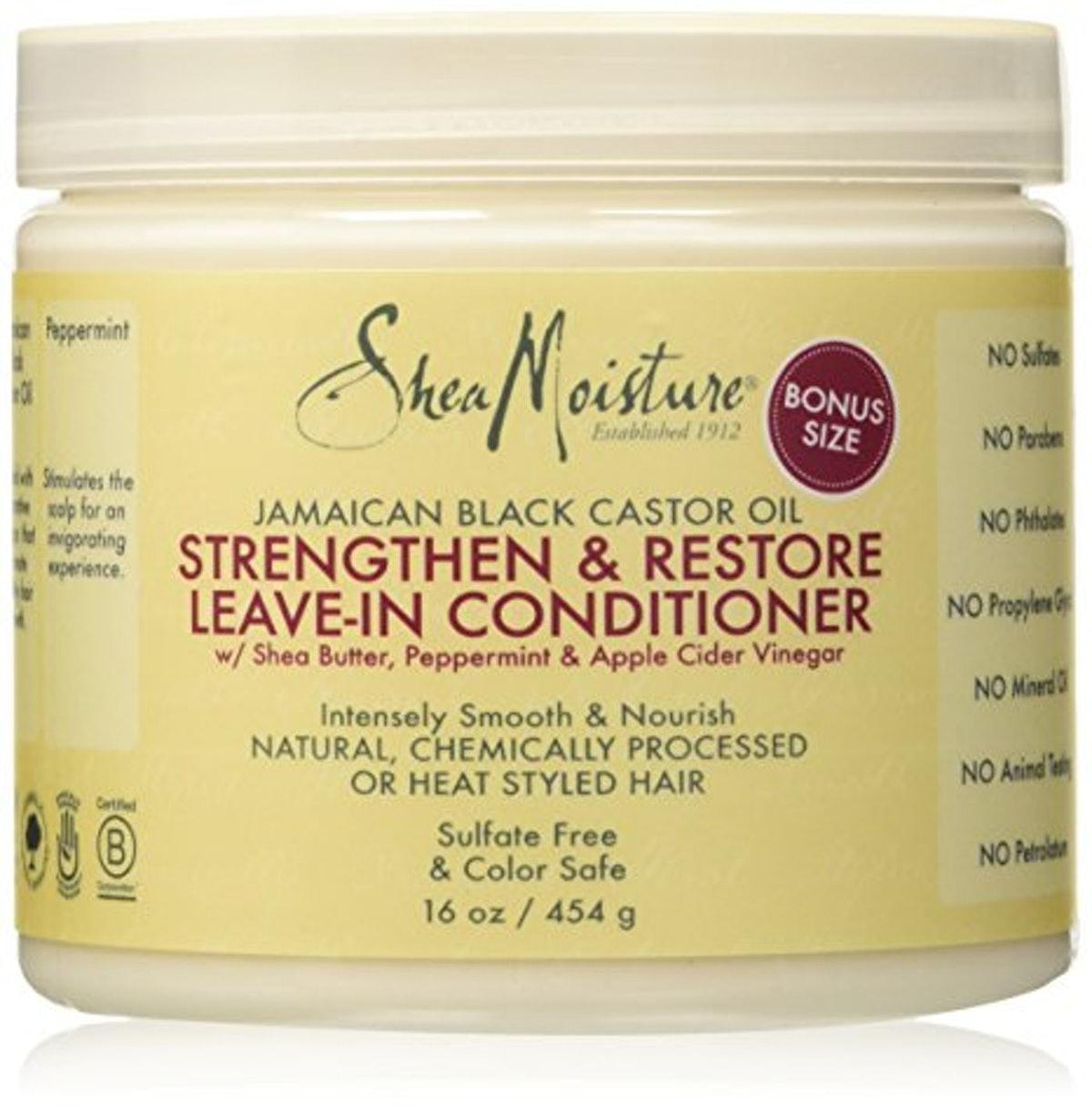 SheaMoisture Jamaican Black Castor Oil Strengthen & Restore Leave-In Conditioner