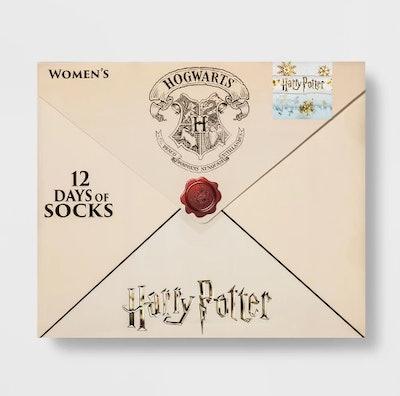 Women's Harry Potter Letter 12 Days of Socks