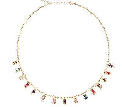 Alex Mika Emerald Dangle Necklace
