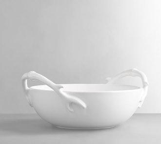 Antler Handled Serve Bowl