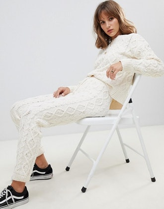 Wild Honey Oversized Cable Knit Sweater