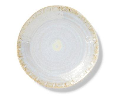 Perla Dinner Plate, Pearl/Gold