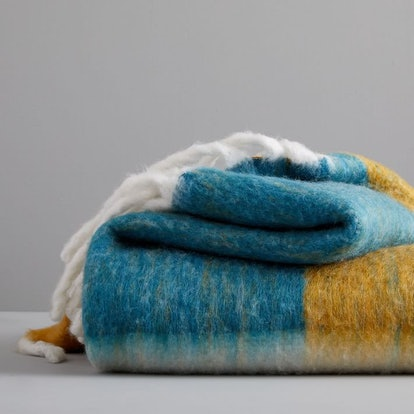 Color Block Soft Touch Throw