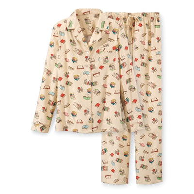 Book Lover's Flannel PJ Set