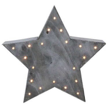 Large Lighted Gray Star Christmas Table Top Decoration