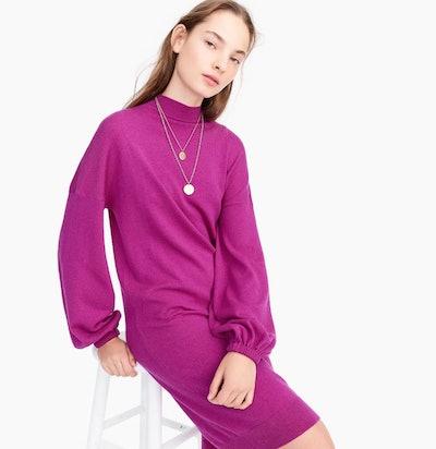 Mockneck Sweater Dress