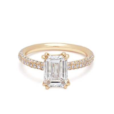 Eleonore Tria Ring Yellow Gold & White Diamond (2.01CT)
