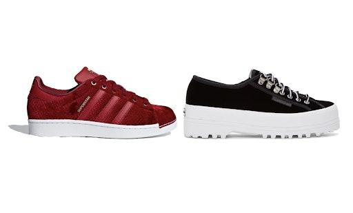 The 2018 Velvet Sneaker Trend For
