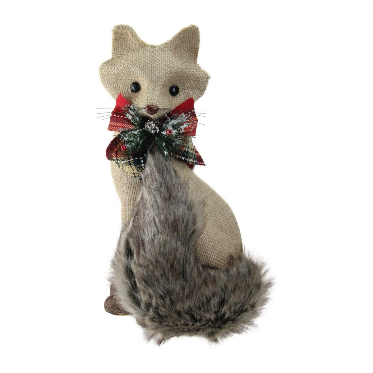 Northlight Sitting Brown Fox with Tail Curled Christmas Decoration