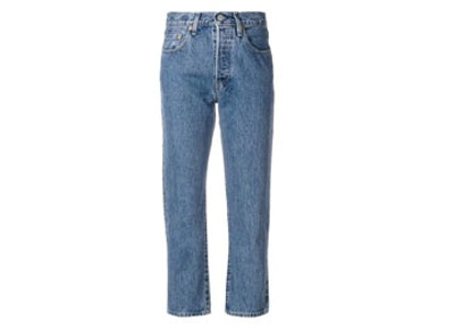 Cropped Faded Jeans