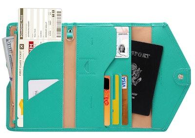 Zoppen Multipurpose RFID Blocking Travel Passport Wallet