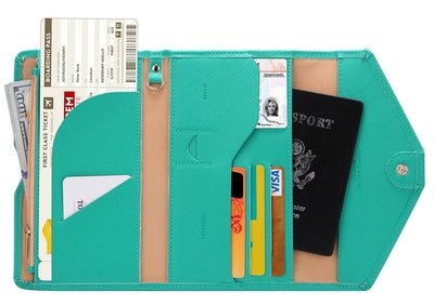 Zoppen Multipurpose RFID Blocking Travel Passport Wallet