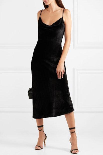 Kara Velvet Midi Dress