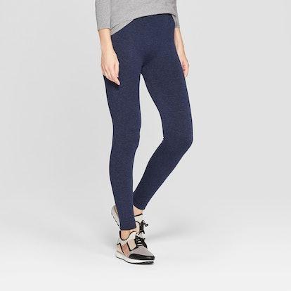 Women's Navy Fleece Lined Leggings