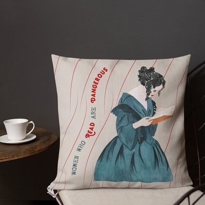 'Women Who Read Are Dangerous' Pillow