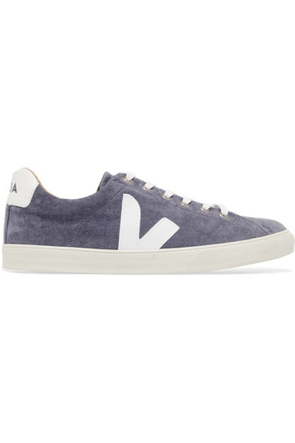 VEJA Esplar leather-trimmed velvet sneakers