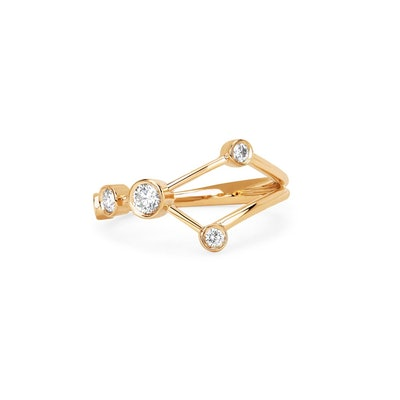 Cancer Diamond Constellation Ring