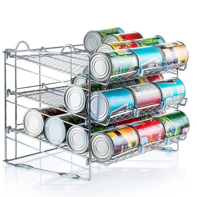 Chrome Stackable Can Organizer