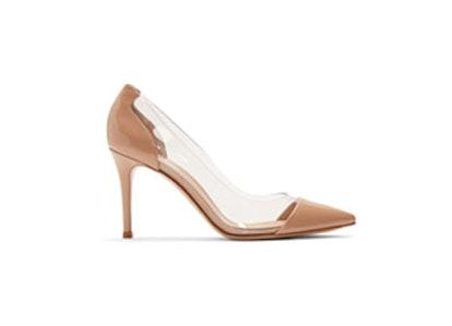Pink Patent Plexi Heels