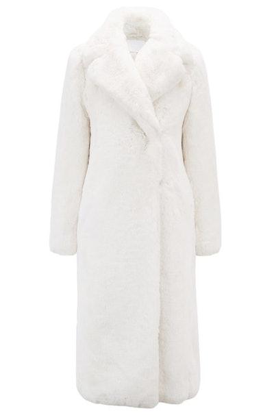 Faux-Fur Coat With Oversized Lapels