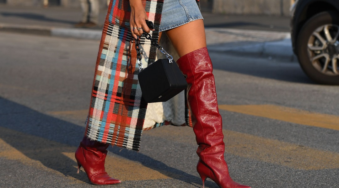 351c358496f How To Wear Over The Knee Boots This Winter In 7 Cool (But Also Warm) Ways