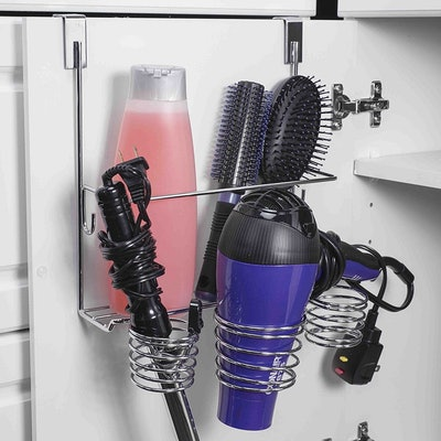 Home Basics Over The Cabinet Hairdryer Holder & Organizer