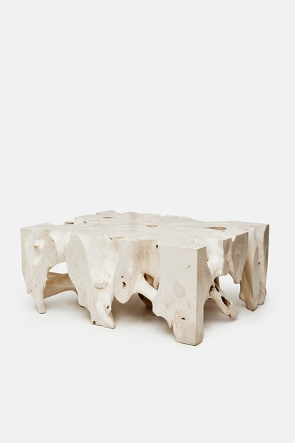 Andrianna Shamaris Bleached Teak Coffee Table