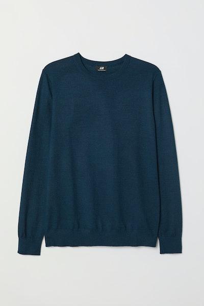 Knit Merino-blend sweater