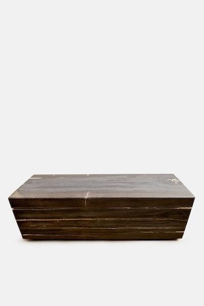 Andrianna Shamaris Super Smooth Petrified Wood Log Bench