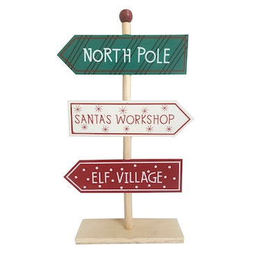 North Pole Standing Sign